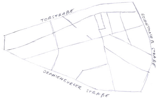 Map of Mitte's golden triangle